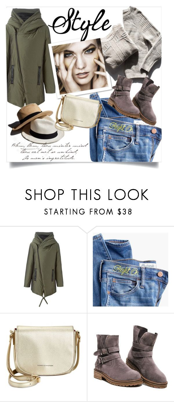 """""""Perfect Puffer Jacket Style"""" by clotheshawg ❤ liked on Polyvore featuring UNCONDITIONAL, Madewell, Garance Doré and Tommy Hilfiger"""