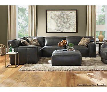 Awe Inspiring Colton 4 Piece Leather Sectional Ideas For The House Inzonedesignstudio Interior Chair Design Inzonedesignstudiocom