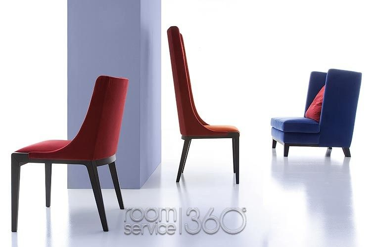Costantini Sedie ~ Magda armchair with black legs with hystrix table by cattelan