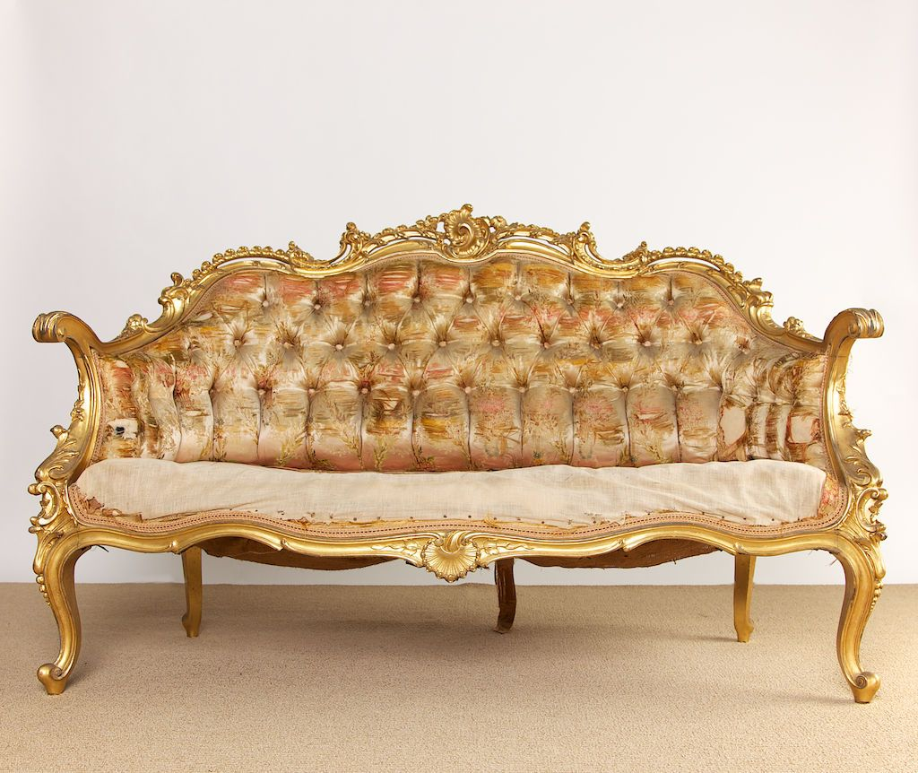19th Century French Rococo Style Louis XV Settee | Rococo ...