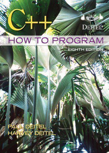 C How To Program 8th Edition Paul Deitel Harvey Deitel Isbn 9780132662369 Introduction To Programming Book Program Edition