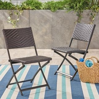 Christopher Knight Home El Paso Outdoor Brown Wicker Folding Chair