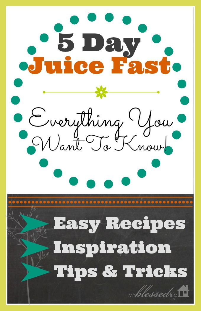 5-Day Juice Fast #juicefast