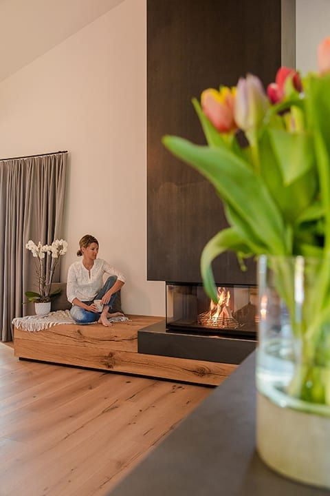 Photo of Cheminée modern living room by architetta schiers ag modern | homify