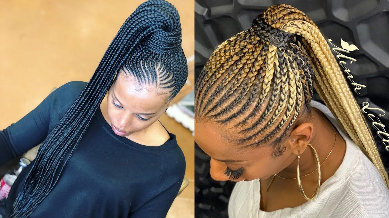 2020 Latest Ghana Braids Hairstyles That Trends Your Look Around In T In 2021 Latest Braided Hairstyles Ghana Braids Ghana Braids Hairstyles