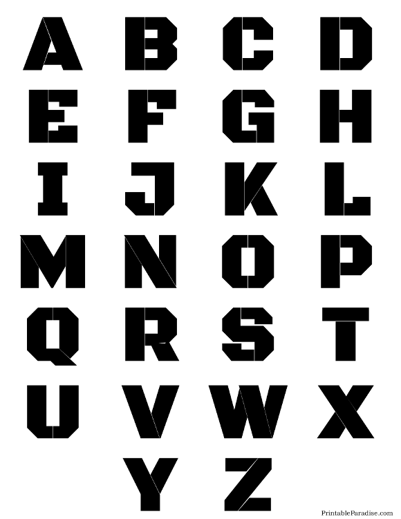 letter printable stencils