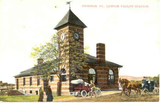 Lehigh Valley Train Station Water St Pittston Pittston