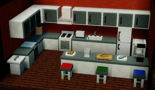 Minecraft Mods Cocina Casas Minecraft Arquitectura Minecraft