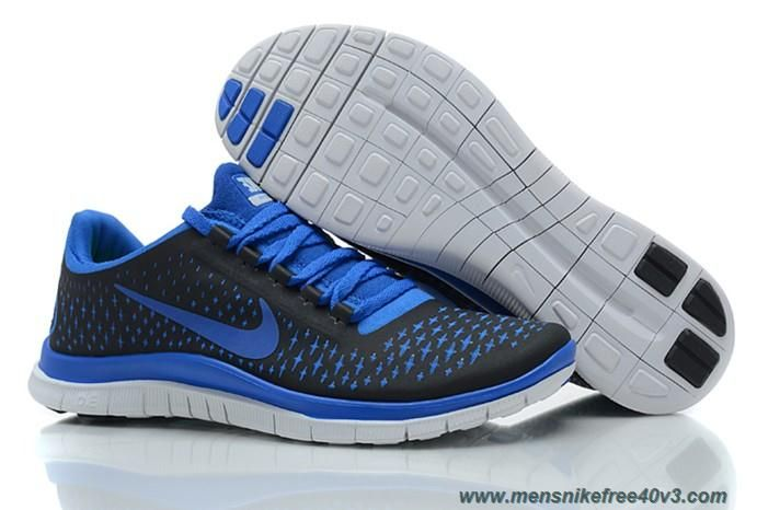 Nike Free 3.0 V4 Mens Black Royal Blue Shoes 511457-400 Sale