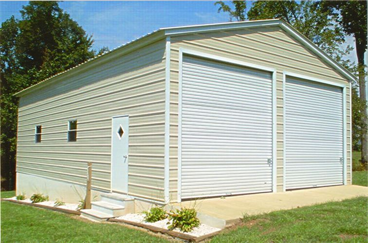 208 Larger 2 Car Garage Shop With Two 10x10 Roll Up Doors 2 Windows And Walk In Door Many Sizes And Opti Metal Buildings Steel Buildings Metal Building Kits