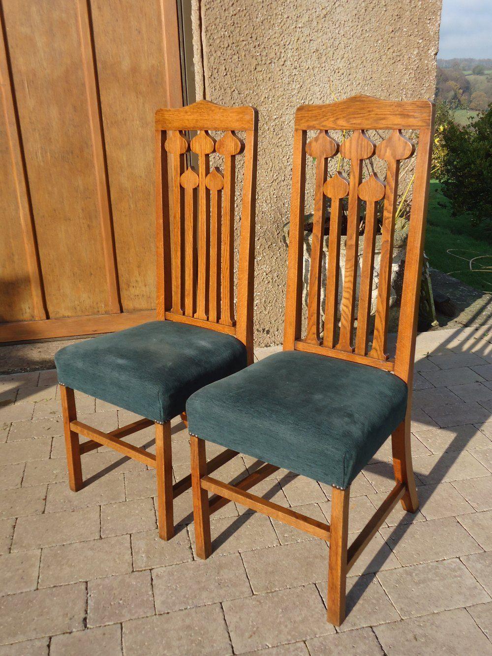 Stunning Pair Of Liberty Oak Chairs Antiques Atlas Oak Chair