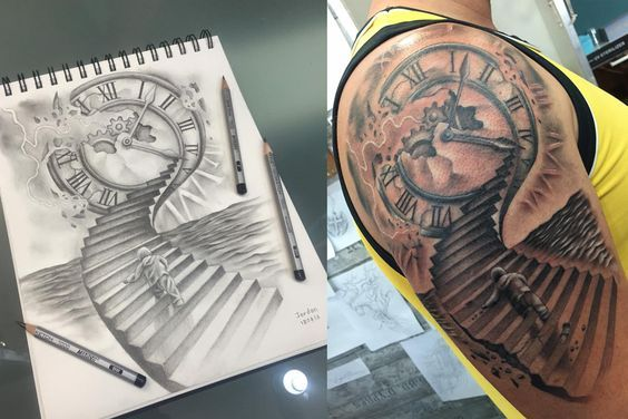 Tattoo Staircase Heaven Drawing