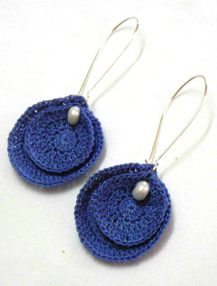 Blue drops.. | My Creations | Pinterest | Pendientes, Bisutería y ...