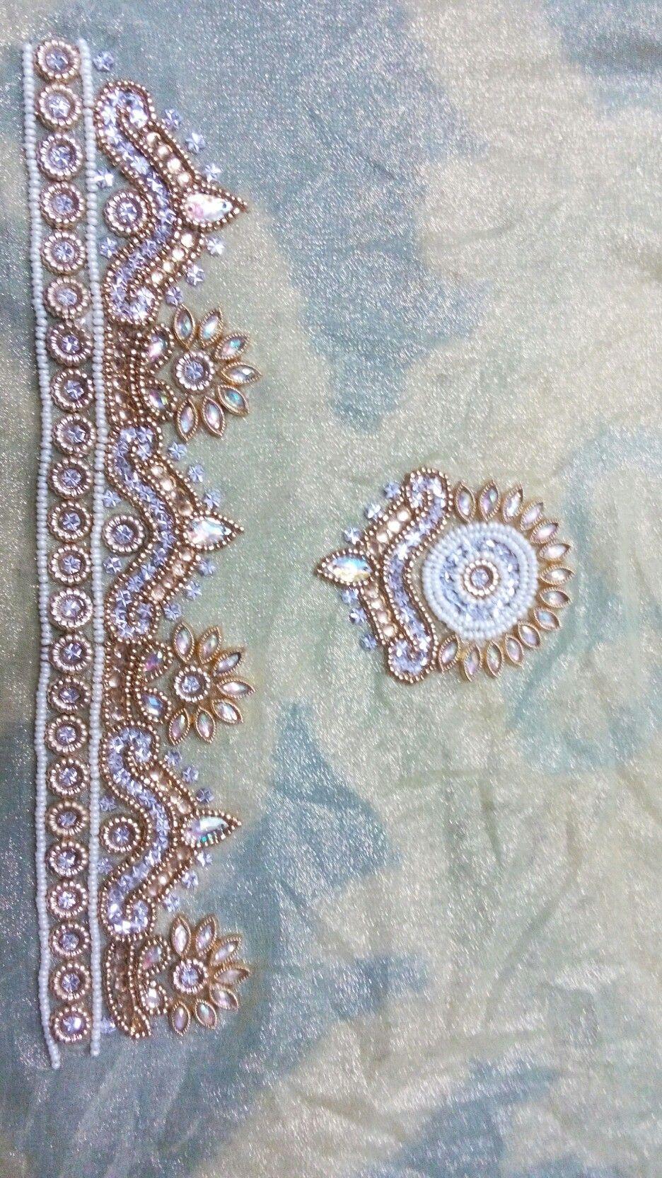 Pin de Prasadini raji en Saree Working | Pinterest | Bordado ...