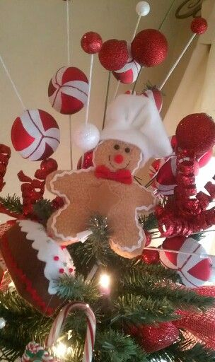 Gingerbread Tree Topper Christmas Tree Toppers Christmas Decor Diy Christmas Spirit