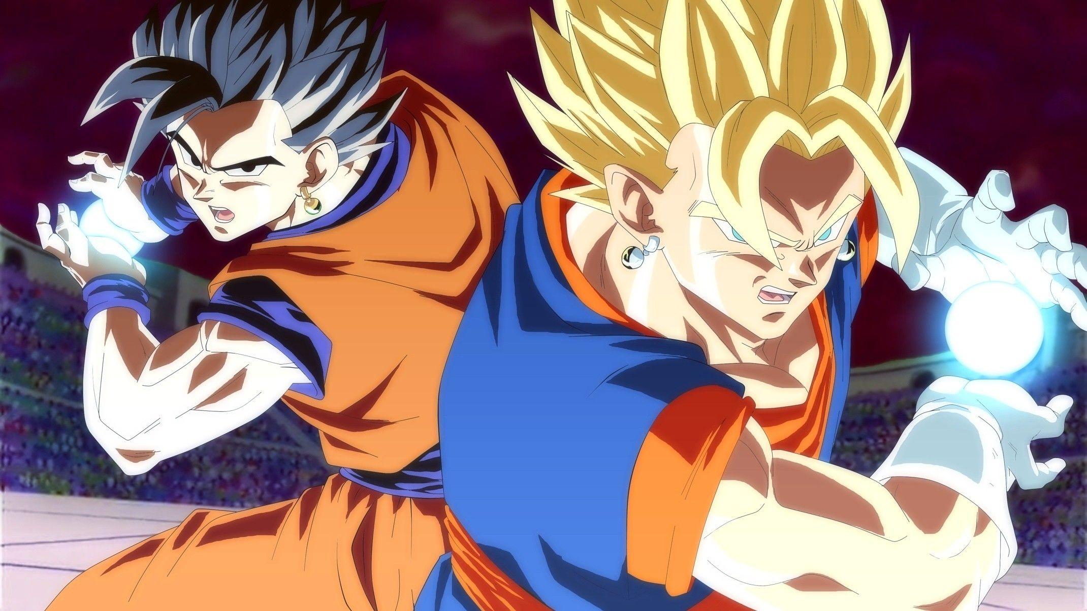 Goku Y Gohan Fusion Vegetto Ssj Anime Dragon Ball Super Dragon Ball Image Dragon Ball Z