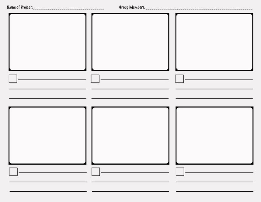 Storyboard Template Pdf Storyboard Template Word Professional Blank