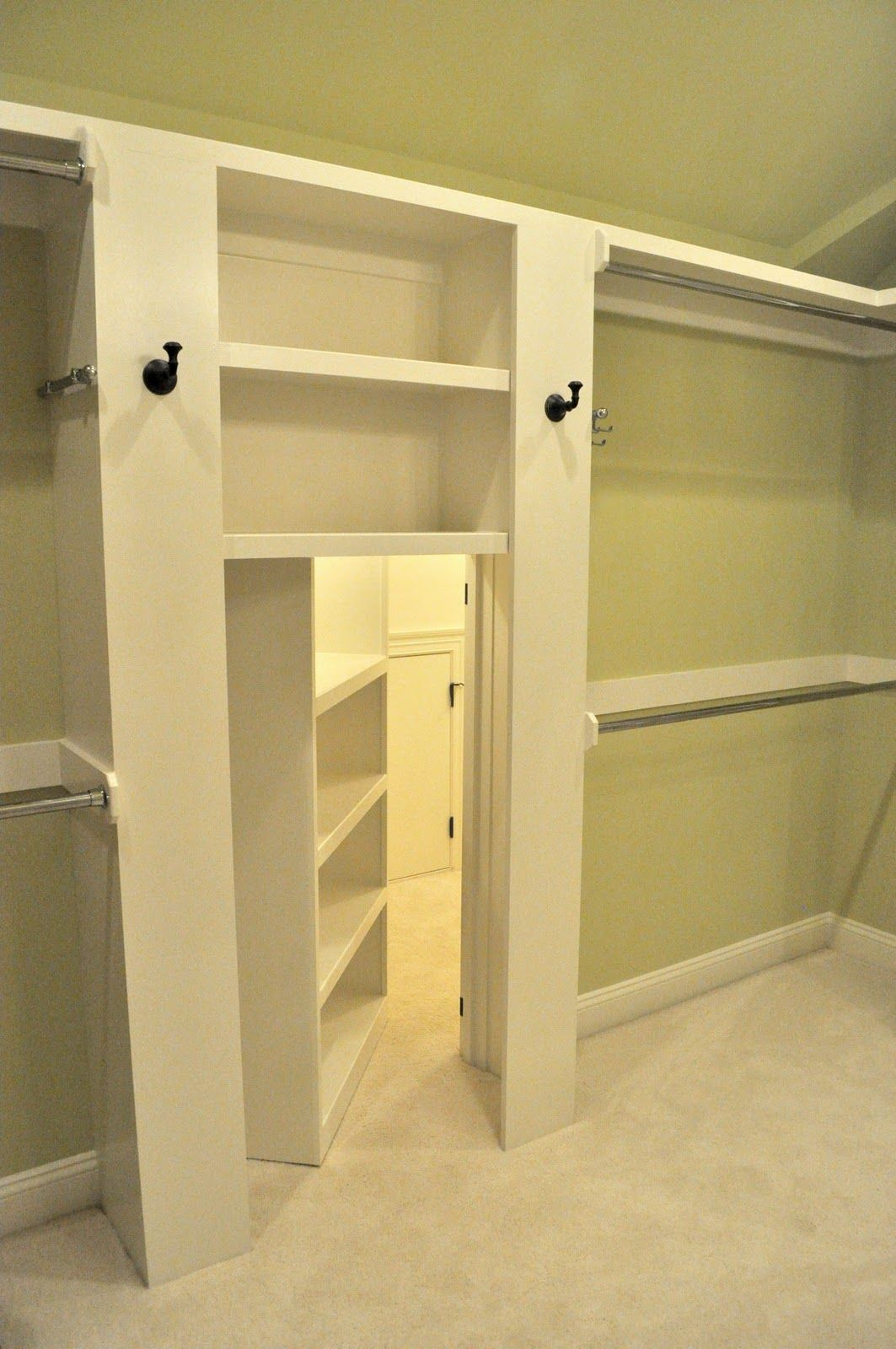 Walk   In Closet Passageway   This Is A Clever Way To Disguise A Secret  Space