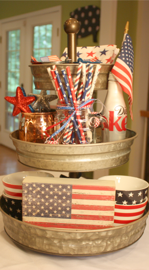 Tray Decoration Ideas Endearing Easy Patriotic Decoration Ideas  Trays Tiered Stand And Tray Decor Inspiration