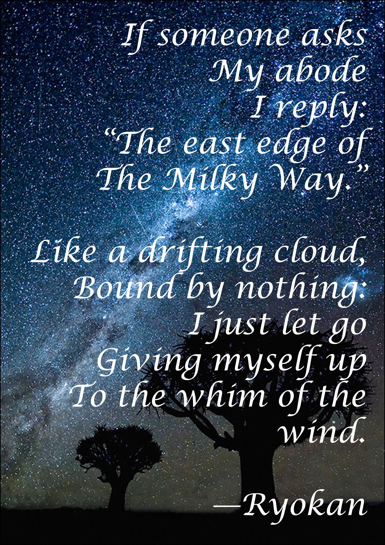 from the Zen poet, Ryokan | Zen quotes, Ryokan, Buddhist ...