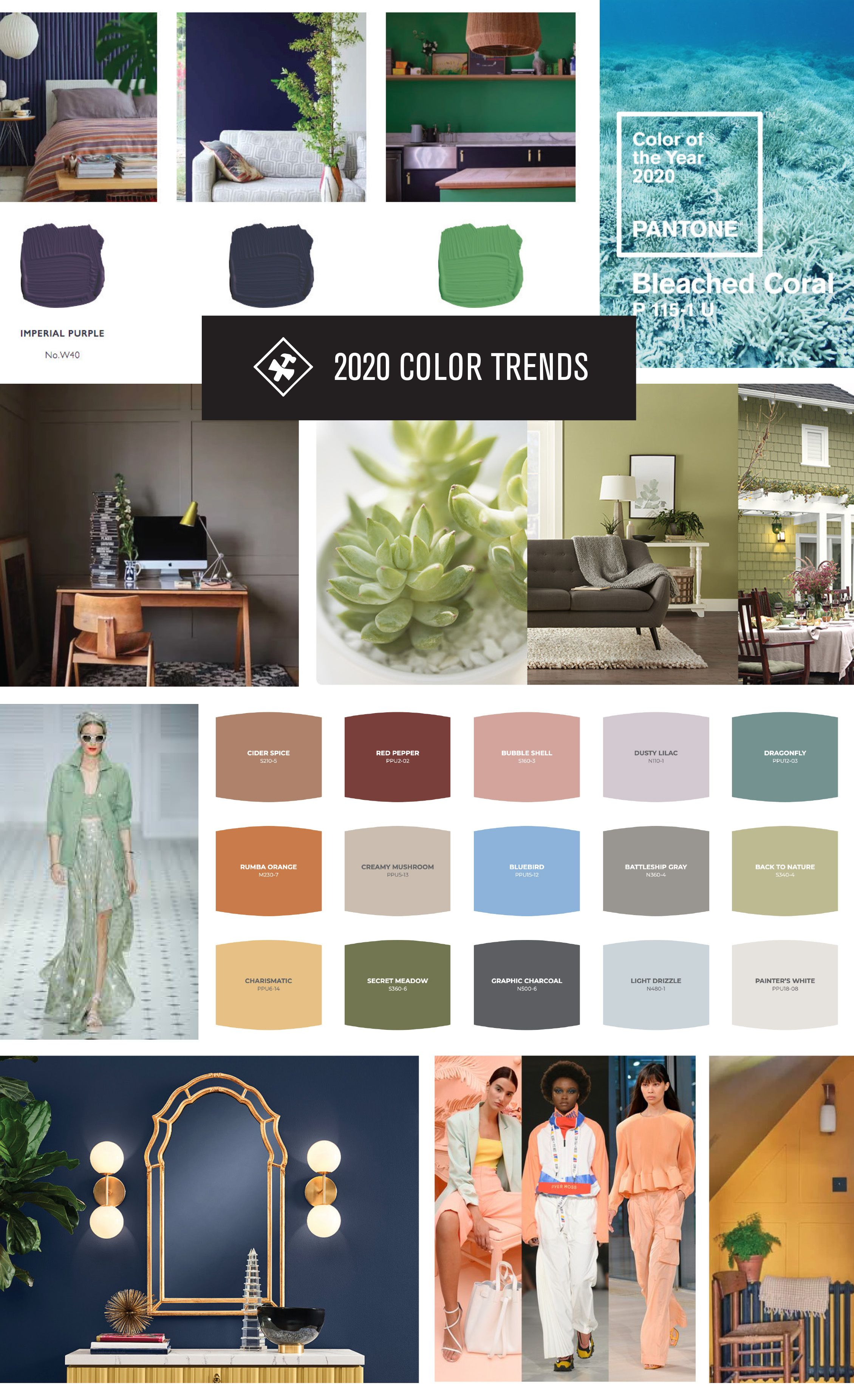 2020 Color Trends For Your Home Guide Construction2s