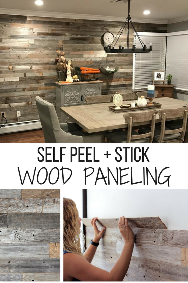 Self Peel Amp Stick Wood Paneling Wall Accents Farmhouse