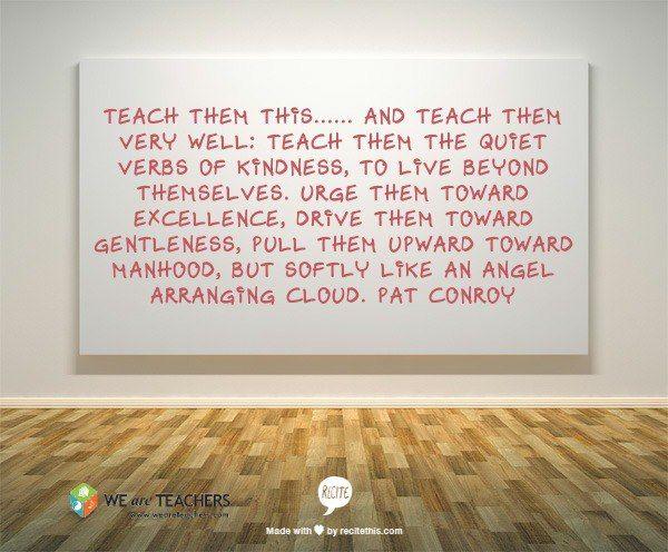 Author Pat Conroy on teaching