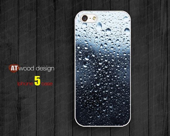 IPhone 5 case IPhone 4 case Rain drop Personalized by Atwoodting, $6.99