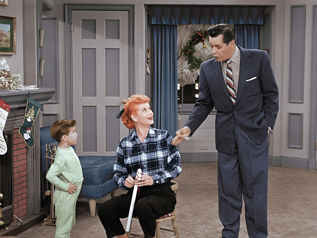 New Photos From The Colorized I Love Lucy Christmas Special Movies