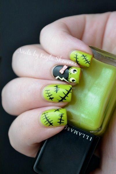 Nails By Kayla Shevonne Nail Art Bride Of Frankenstein