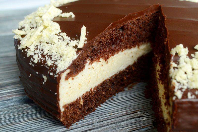 """Рецепт торта """"Птичье молоко"""" с шоколадным бисквитом в 2019 ..."""