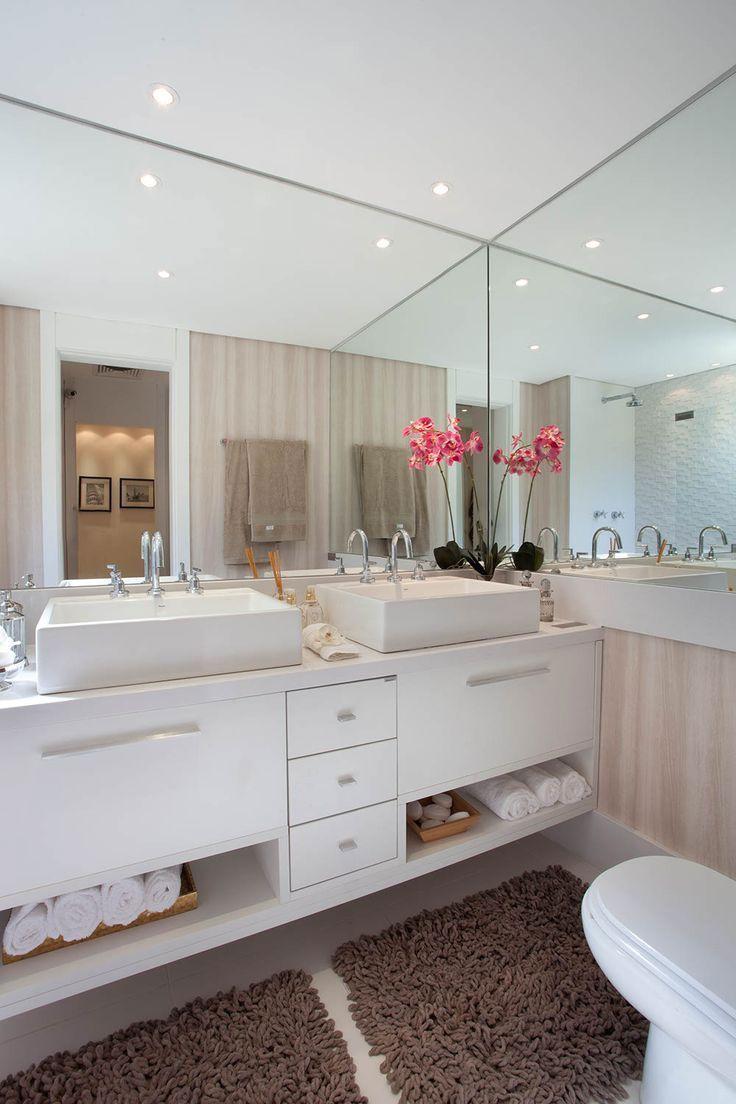 Banheiros decorados 100 ideias tend ncias fotos 2017 for Tendencias banos pequenos 2017