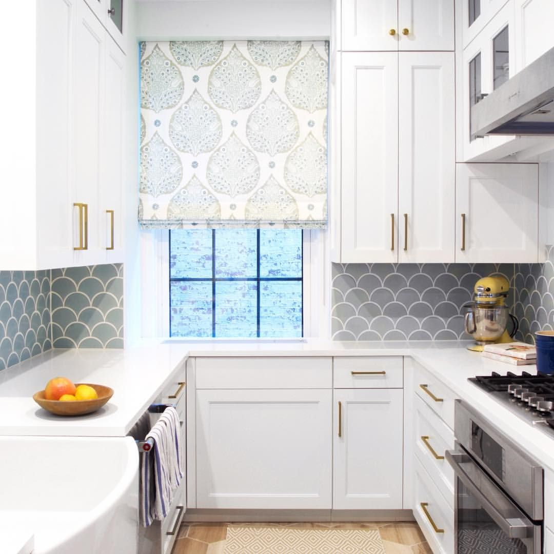 Fireclay Tile On Instagram Powder Blue Ogee Drops Looking Lovely In This Beautiful Kitchen Fish Scale Tile Backsplash Blue Backsplash Kitchen Fish Scale Tile
