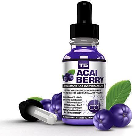 T5 Fat Burners Acai Berry Diet Drops : Maximum Strength Antioxidant Fat Burner -…