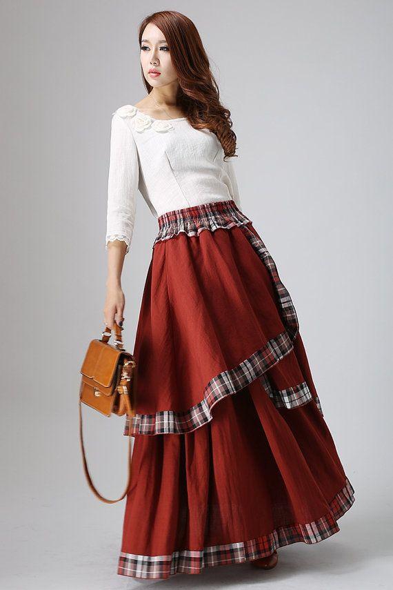 Skirts for Women-Maxi Skirt-Boho Chic-Long Skirt-Bohemian Skirt ...