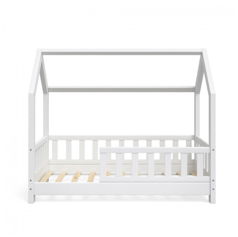 Small Montessori Toddler Floor Bed Frame With Rails Rare Epoch
