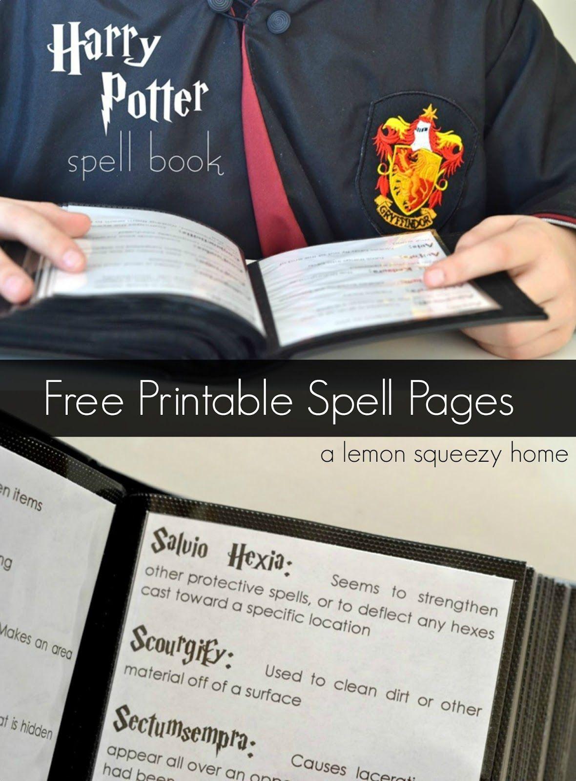 Harry Potter Spell Book Printable Spells Harry Potter