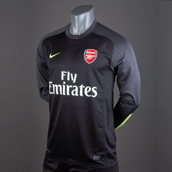 Football Shirts - Nike Arsenal Goal Keeper Replica Long Sleeve ...