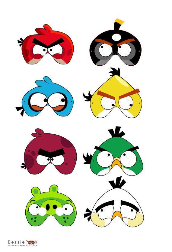 Printable BIRDS Masks Instant Download PDF di BessiePooh su Etsy