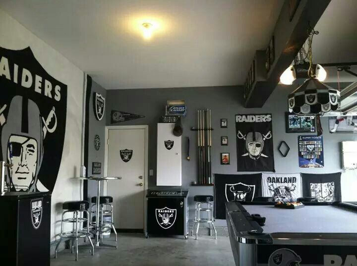 Nfl Man Cave Ideas : Future garage raider room or use of extra man cave