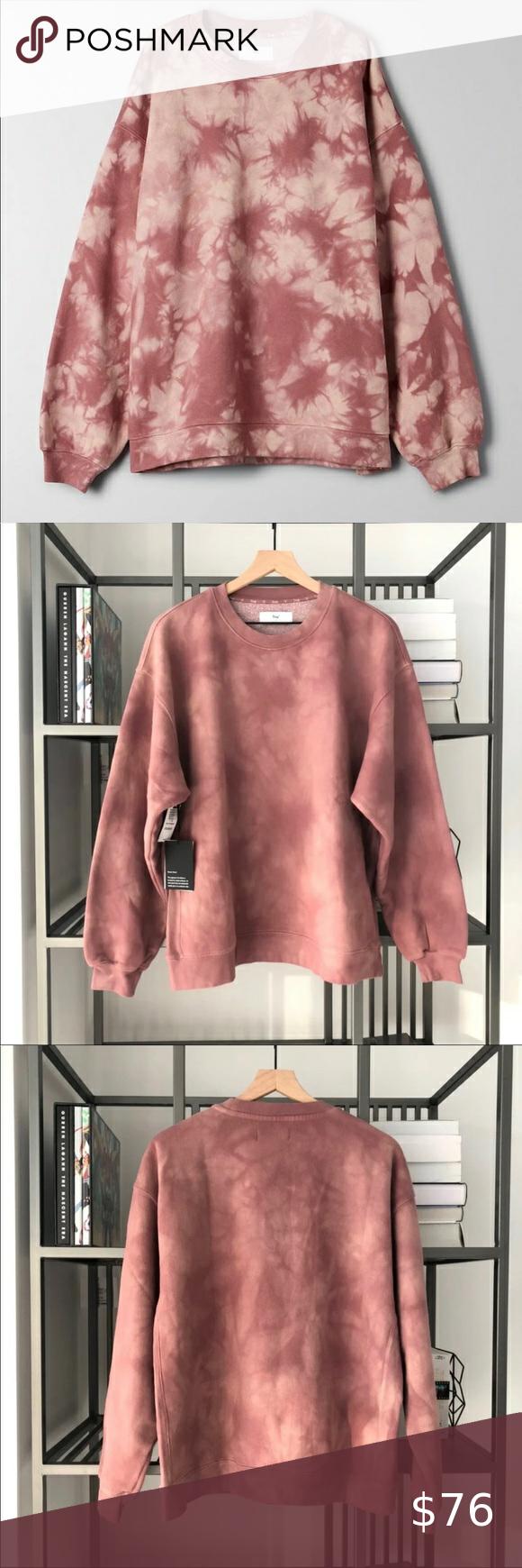 Aritzia Tna Cozyaf Mega Crewneck Sweater Tiedye Sweaters Crew Neck Sweater Sweaters For Women [ 1740 x 580 Pixel ]