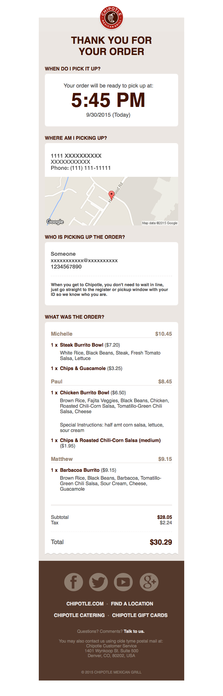 Chipotlemg Sent This Email With The Subject Line Thank You For Ordering Oh Man Th Email Design Inspiration Email Marketing Examples Email Template Design