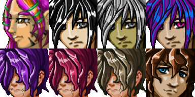 RPG Maker VX and VX Ace Face Set 01 - Boys 02 | Sprite Might