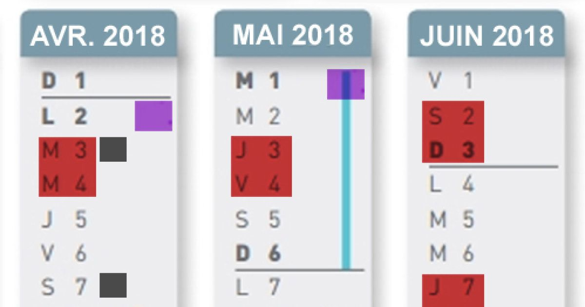 Calendrier Greves Air France.Le Calendrier Des Greves Sncf Et Air France Entre Vacances
