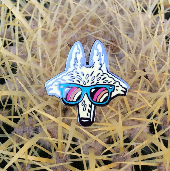 Los Angeles Coyote Cloisonne Enamel Pin With Images Enamel
