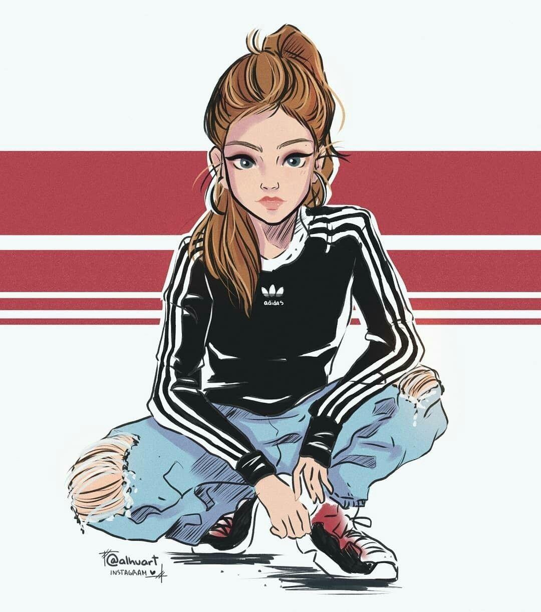 Pin By Nrltamaulida On Amazing Girls Cartoon Art Cartoon Girl Drawing Cartoon Art Styles