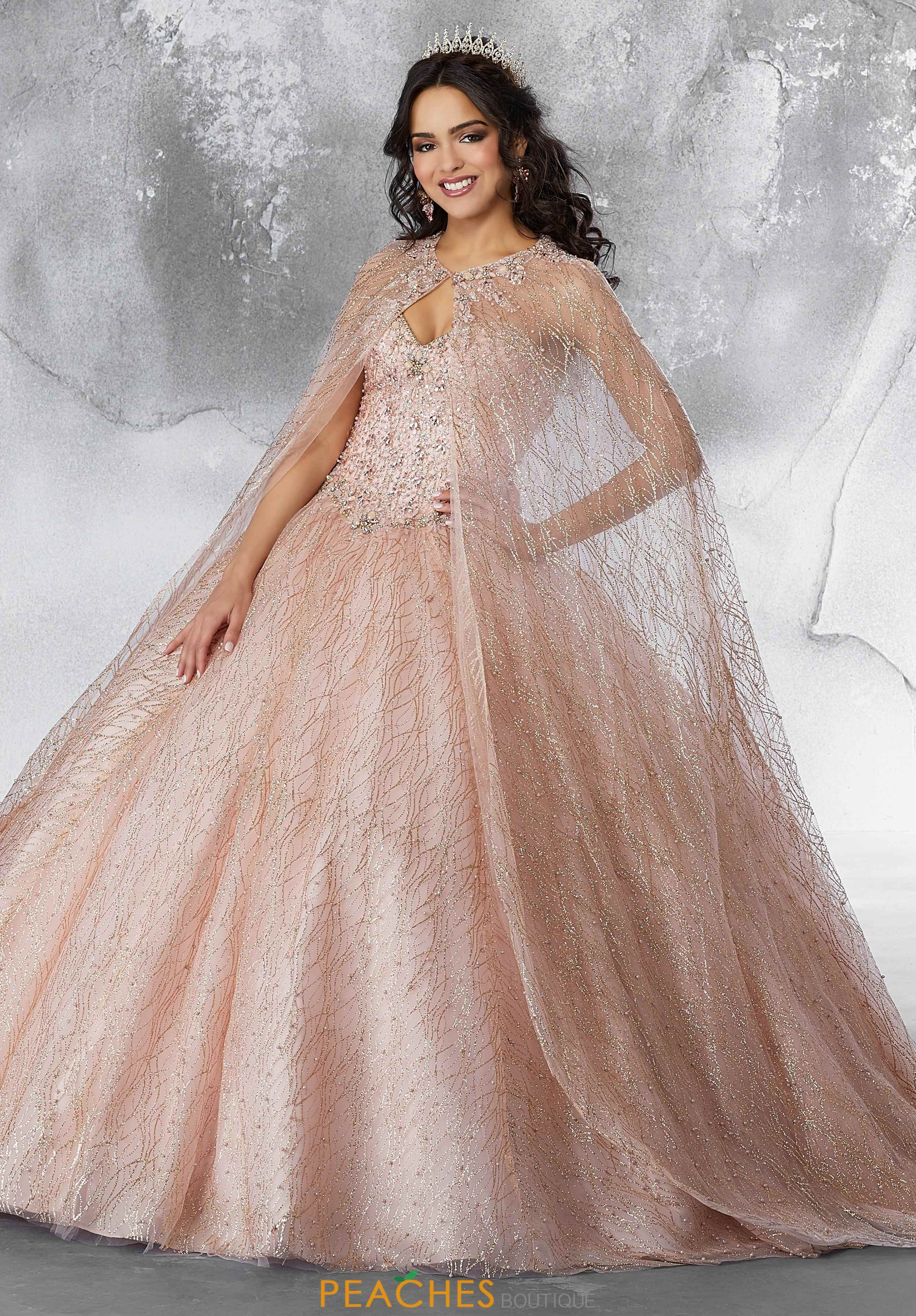 c3bd6983e93 Vizcaya Quinceanera Beaded Long Cape 89201 in 2019