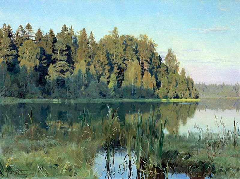 Evening on Lake Bainevsky (Dmitri Belyukin, 2003)