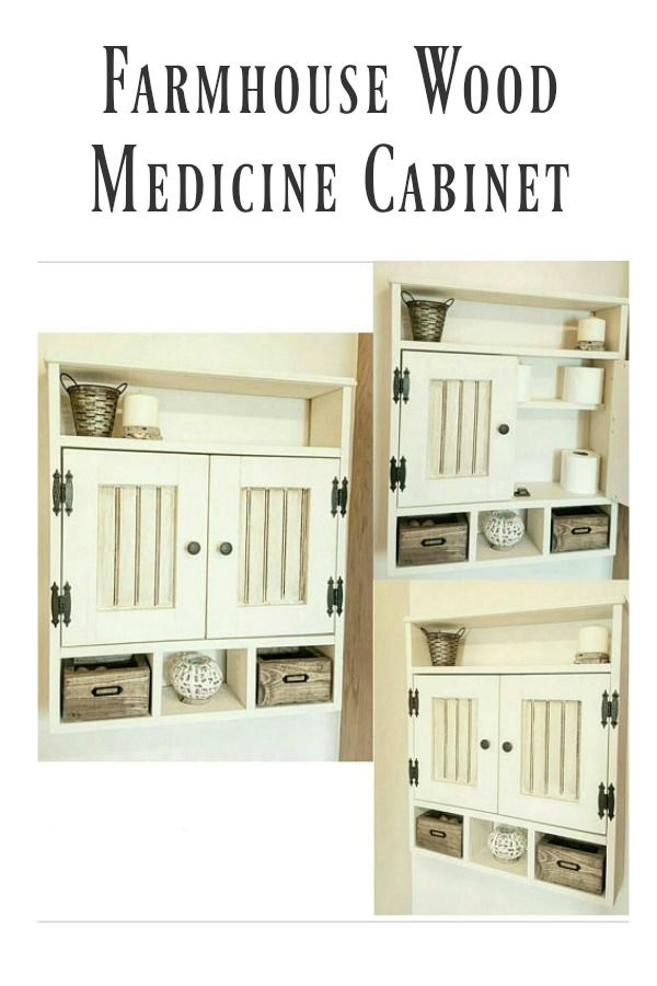 Bon Farmhouse Wood Medicine Cabinet | I Really Love This Medicine Cabinet, Not  Only Is It Really Cute, It Adds More Storage And Organization To Youu2026