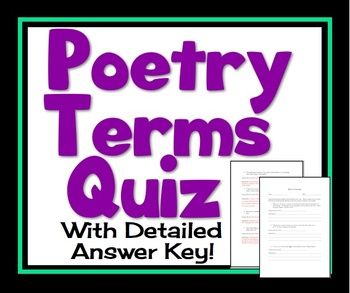 Poetry terms quiz - metaphor, simile, hyperbole ...